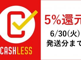 キャッシュレス5%還元もうすぐ終了です!